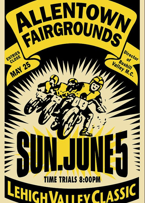 Motorcycle Racing Art Greeting Cards