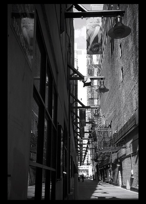 Alley Greeting Card featuring the photograph Alley - 200010 by TNT Images