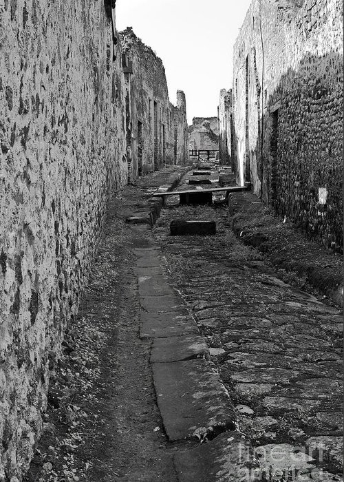 Pompeii Greeting Card featuring the photograph Alleyway by Marion Galt