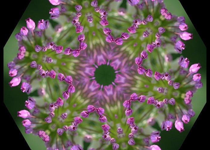 Giant Greeting Card featuring the digital art Allium by Patsy Zedar