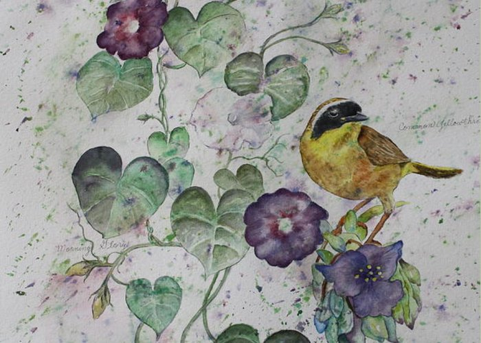 Botanical Greeting Card featuring the painting Almost Botanical by Patsy Sharpe