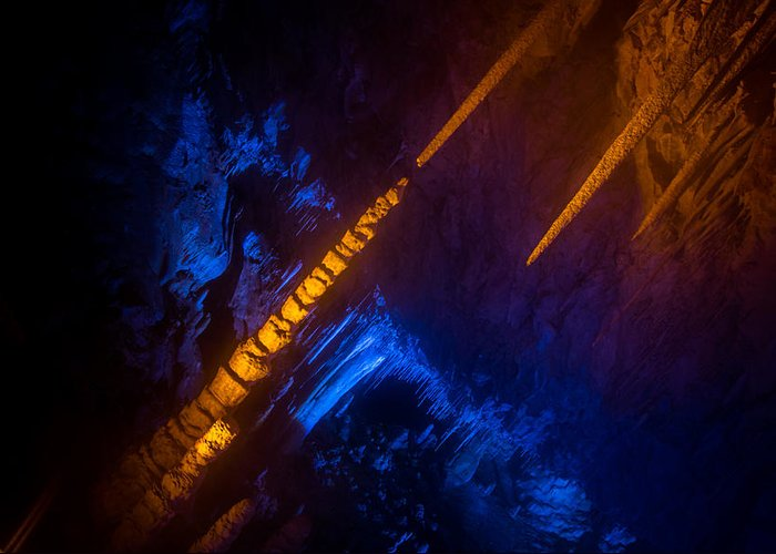 Stalactite Cave Greeting Card featuring the photograph Almost Like Michelangelo by Mark Perelmuter