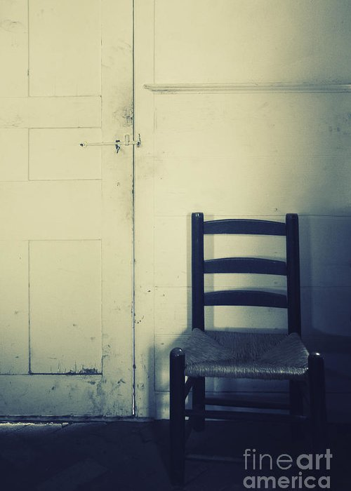 Chair Greeting Card featuring the photograph Alone In A Room by Margie Hurwich