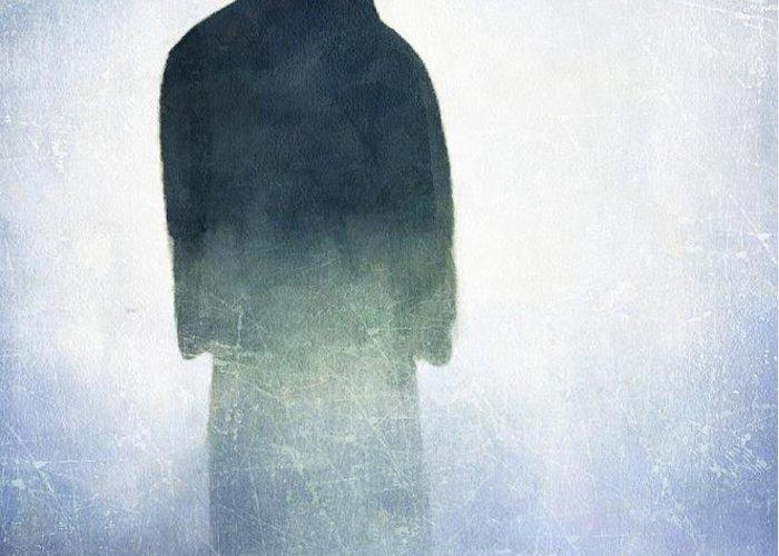 Man Greeting Card featuring the digital art Alone In The Fog by Gun Legler
