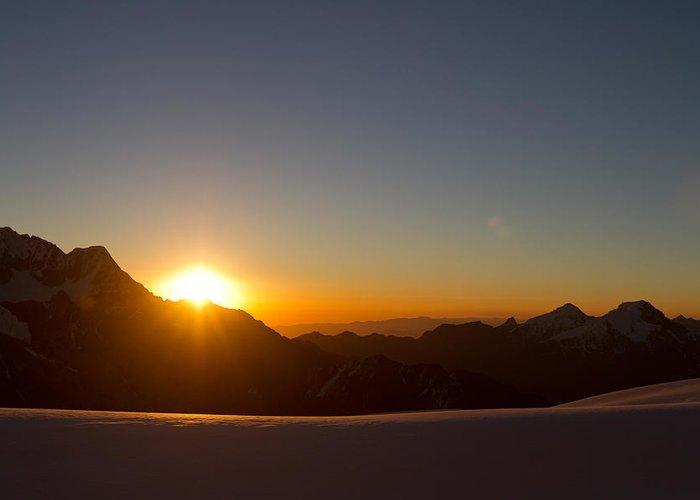 Peru Greeting Card featuring the photograph Alpamayo Sunset by D Scott Clark