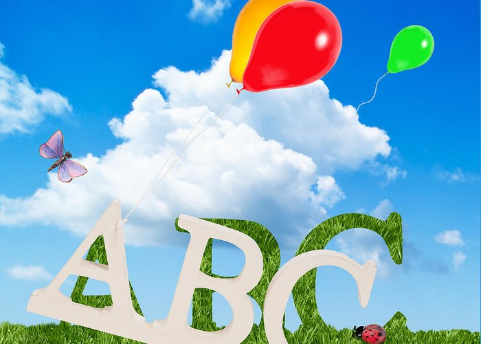 Abc Greeting Card featuring the photograph Alphabet Letters by Amanda Elwell