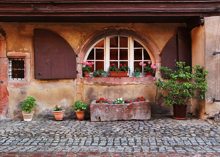 Alsace Greeting Card featuring the photograph Alsatian Home In Kaysersberg France by Greg Matchick