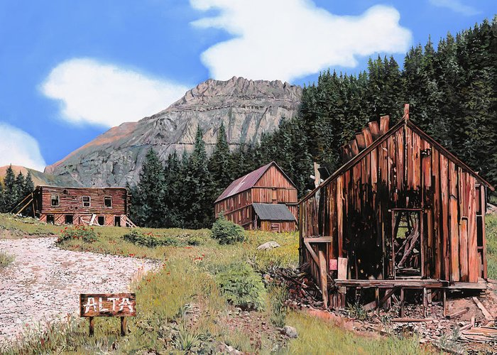 Ghost Towns Greeting Cards