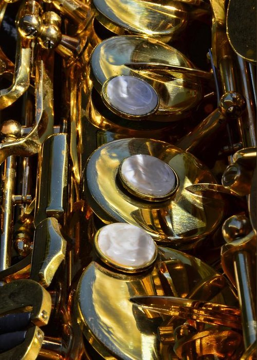 Instrument Greeting Card featuring the photograph Alto Sax Reflections by Ken Smith