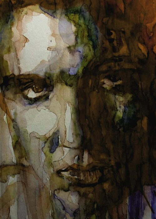 Elvis Presley Greeting Card featuring the painting Always On My mind by Paul Lovering
