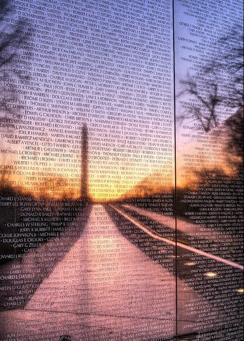 Vietnam Wall Greeting Card featuring the photograph Always Remembered by JC Findley