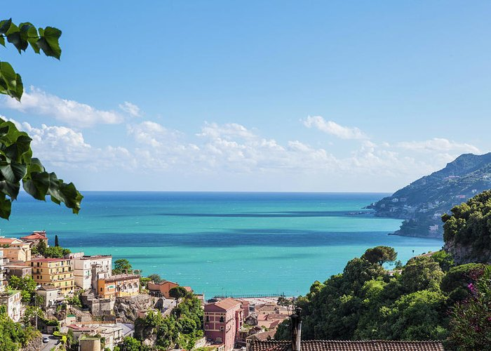 Scenics Greeting Card featuring the photograph Amalfi Coast Landscape Vietri Village by Angelafoto