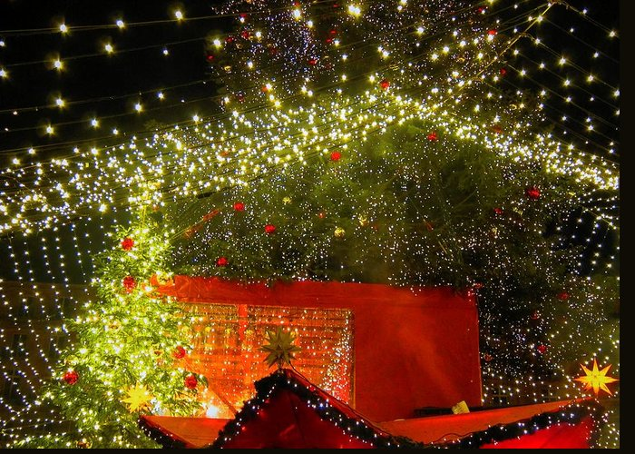 Christmas Greeting Card featuring the photograph Amazing Christmas Lights by Andreas Thust