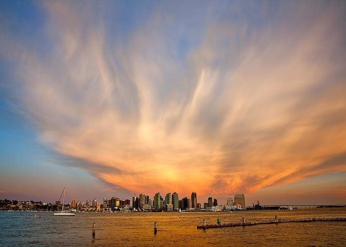 Amazing Sky Greeting Card featuring the photograph Amazing San Diego Sky by Peter Tellone