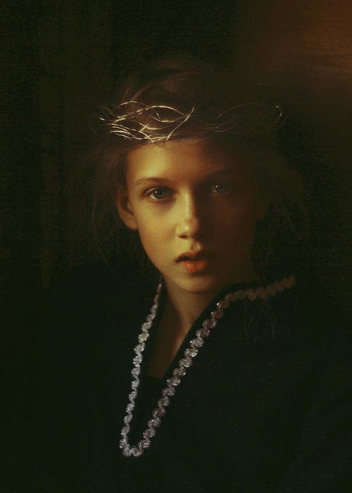Prerafaelite Greeting Card featuring the photograph Ambers Embers by Alexander Kuzmin