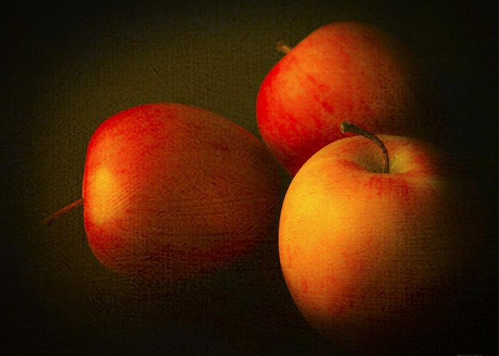 Kitchen Greeting Card featuring the photograph Ambrosia Apples by Theresa Tahara