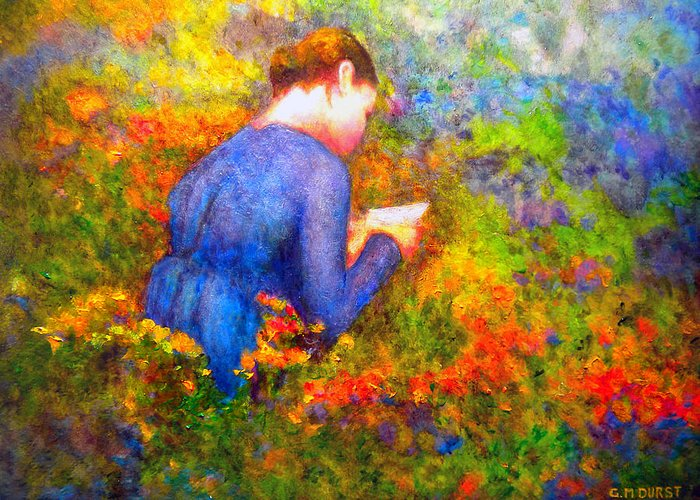 Impressionism Greeting Card featuring the painting Ambrosia's Love Letter by Michael Durst