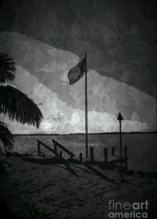 Flag Greeting Card featuring the photograph America All The Way 5 by Rene Triay Photography