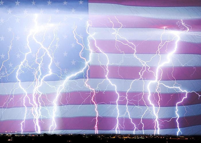 United States Greeting Card featuring the photograph America The Powerful by James BO Insogna