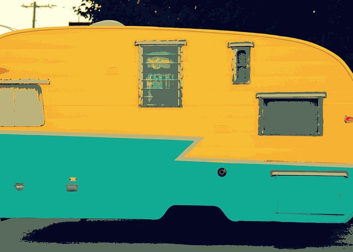 American Camper Series No.4 Greeting Card featuring the photograph American Camper Series No.4 by Ed Smith