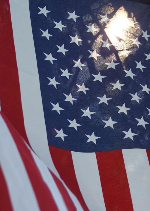 America Greeting Card featuring the photograph American Flag - 01131 by DC Photographer
