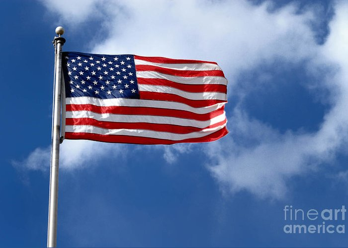 America Greeting Card featuring the photograph American Flag by Amy Cicconi