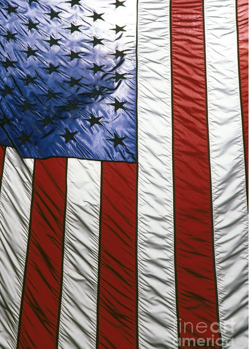 American Greeting Card featuring the photograph American Flag by Tony Cordoza