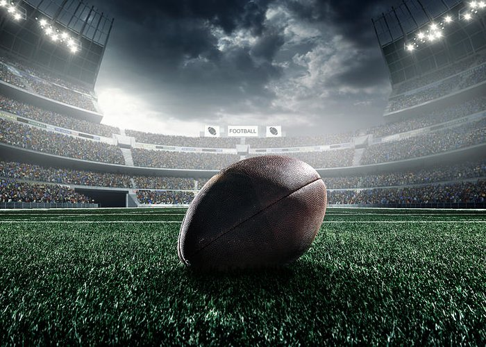Event Greeting Card featuring the photograph American Football Ball by Dmytro Aksonov
