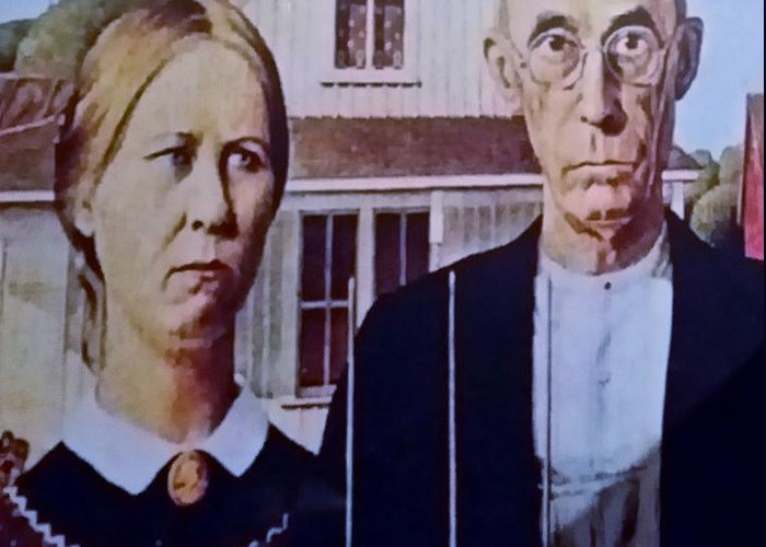 Americana Greeting Card featuring the photograph American Gothic by Rob Hans