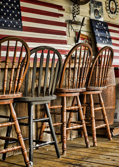 American Flag Greeting Card featuring the photograph Americana by Heather Applegate