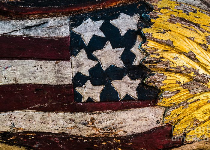 Flag Greeting Card featuring the photograph Americana - Stars And Stripes by Dean Harte