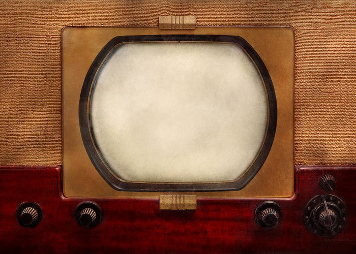 Savad Greeting Card featuring the photograph Americana - Tv - The Boob Tube by Mike Savad
