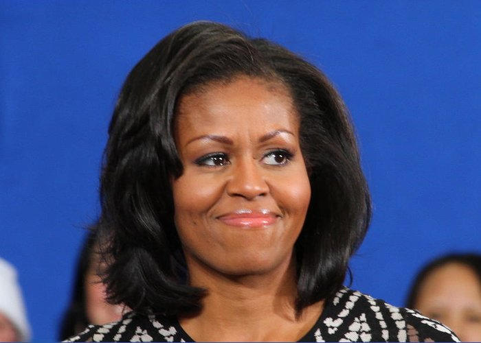 Michelle Greeting Card featuring the photograph America's First Lady by Mike Stouffer