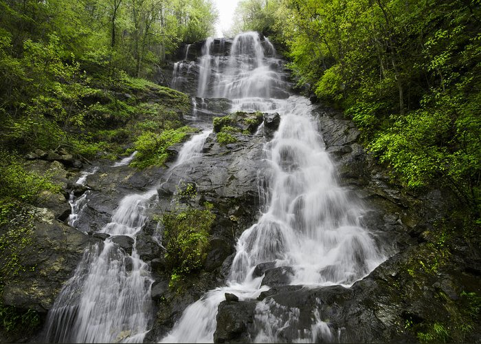 Appalachia Greeting Card featuring the photograph Amicalola Falls by Debra and Dave Vanderlaan