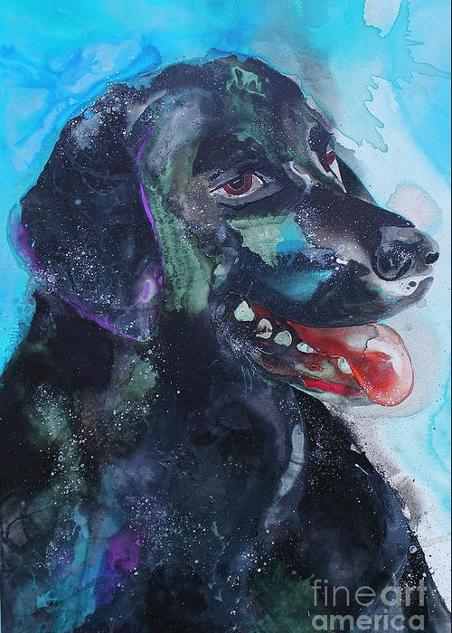 Kasha Ritter Greeting Card featuring the painting Amiga-mia by Kasha Ritter
