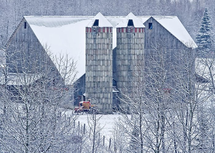 Barn Greeting Card featuring the photograph Amish Barn by Jack Zievis