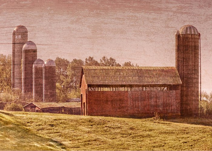 Appalachia Greeting Card featuring the photograph Amish Farm by Debra and Dave Vanderlaan