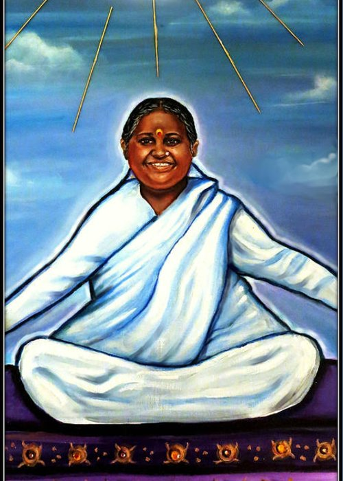 Mata Amritanandamayi Greeting Cards