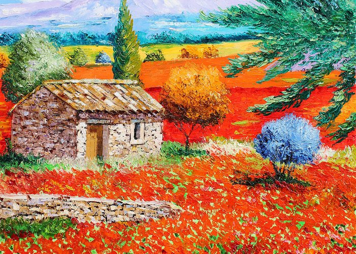 Jean-marc Janiaczyk Greeting Card featuring the digital art Among The Poppies by Jean-Marc Janiaczyk