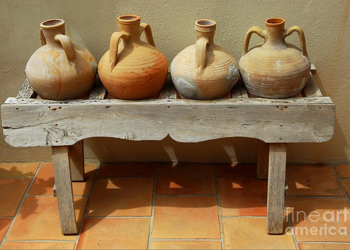 House Greeting Card featuring the photograph Amphoras by Elena Elisseeva