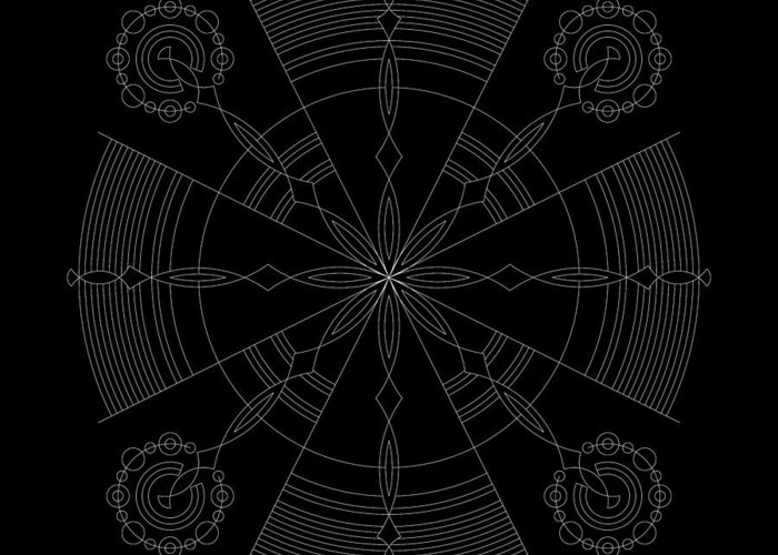 Relief Greeting Card featuring the digital art Amplitude Inverse by DB Artist