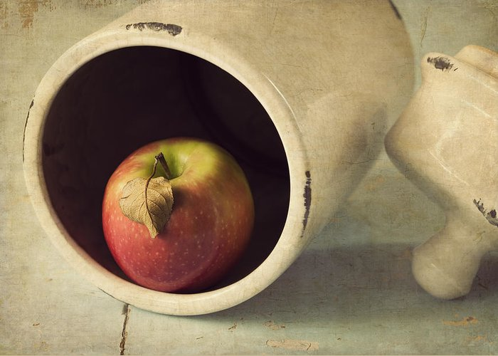 Apple Greeting Card featuring the photograph An Apple A Day... by Amy Weiss