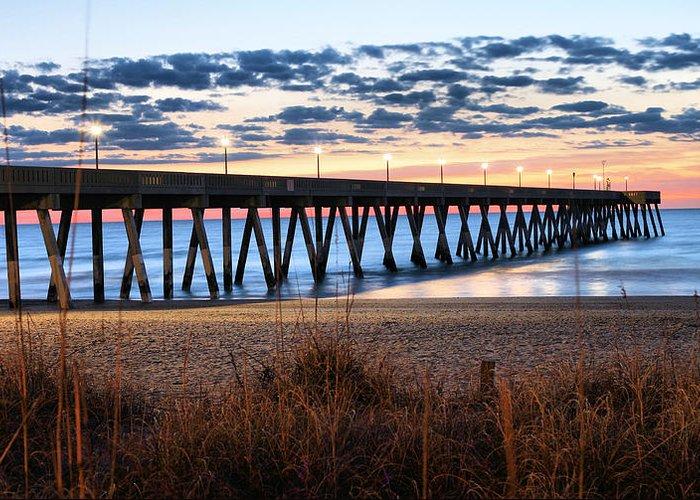 An Atlantic Daybreak Greeting Card featuring the photograph An Atlantic Daybreak by JC Findley