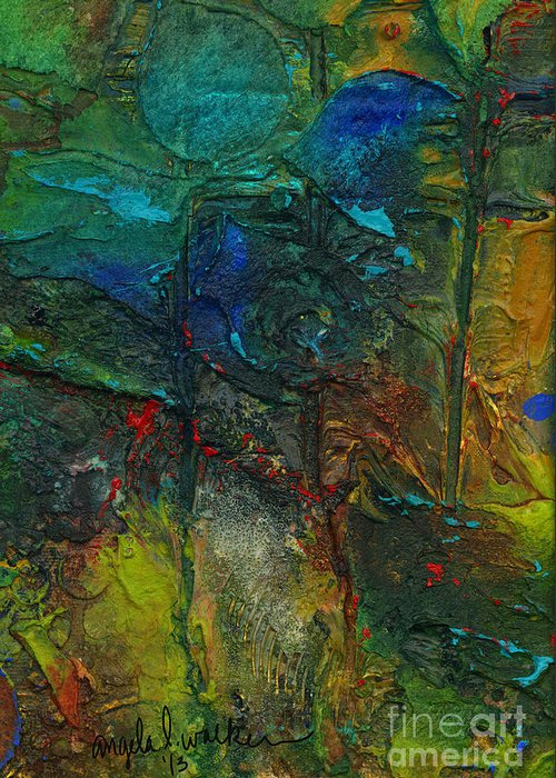 Mixed Media Greeting Card featuring the mixed media An Earthly Haven by Angela L Walker