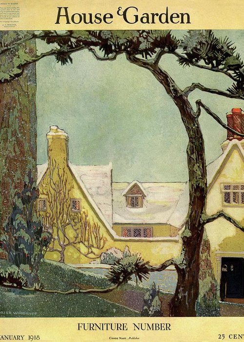 House And Garden Greeting Card featuring the photograph An English Country House by Porter Woodruff
