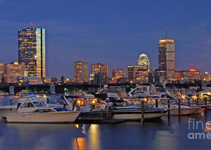 Charles River Yacht Club Greeting Card featuring the photograph An Evening On The Charles by Joann Vitali