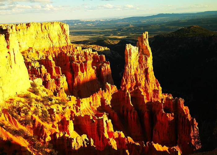 Southwestern Art Greeting Card featuring the photograph An October View by Jeff Swan