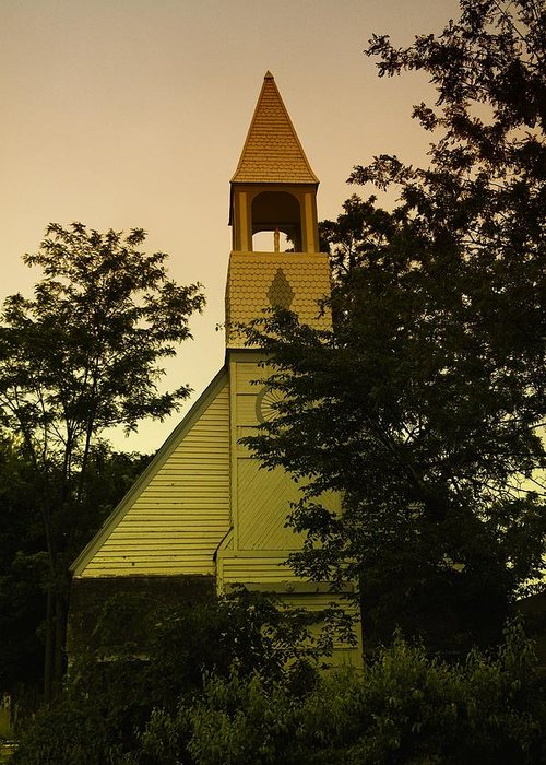 Wood Greeting Card featuring the photograph An Old Church Near Moxee Wa by Jeff Swan