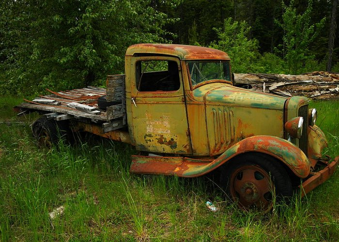 Trucks Greeting Card featuring the photograph An Old Flatbed by Jeff Swan