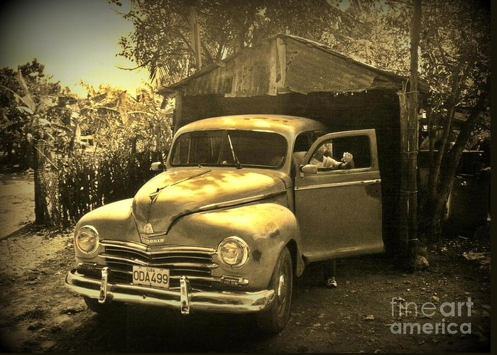 Antique Cars Greeting Card featuring the photograph An Old Hidden Gem by John Malone